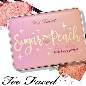 🍑NEW Too Faced SUGAR PEACH WET & DRY Face Palette